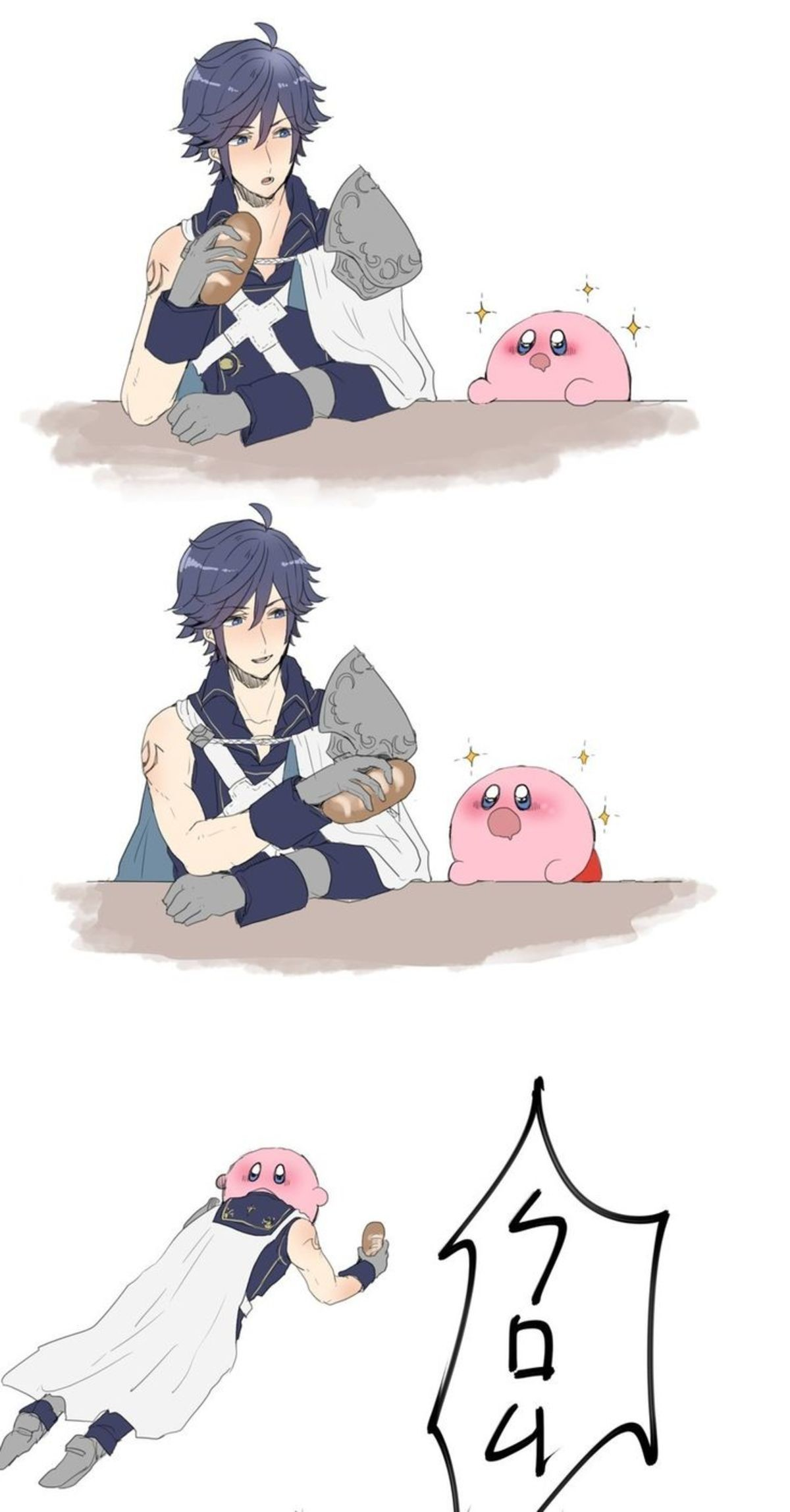 Chrom and Kirby. ..