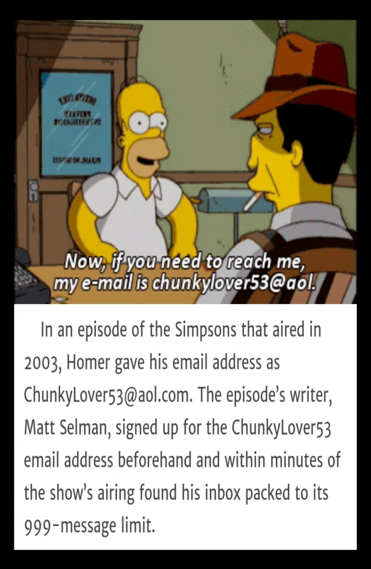 "Chunkylover. .. Scrubs his an Easter egg in the show with the phone number ""Call Tur(k)"". If you used the correct area code (where the show was filmed at or where the"