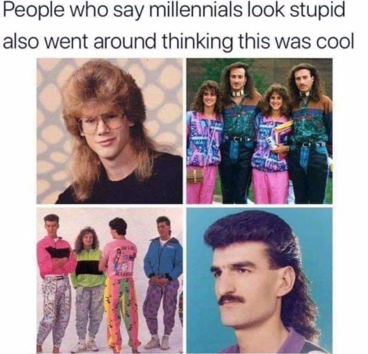 circle of life. .. Here's an eldrich emalgamation of both eras Where is your god now?! Also don't be dissin on the mullet - business in the front, party in the back !