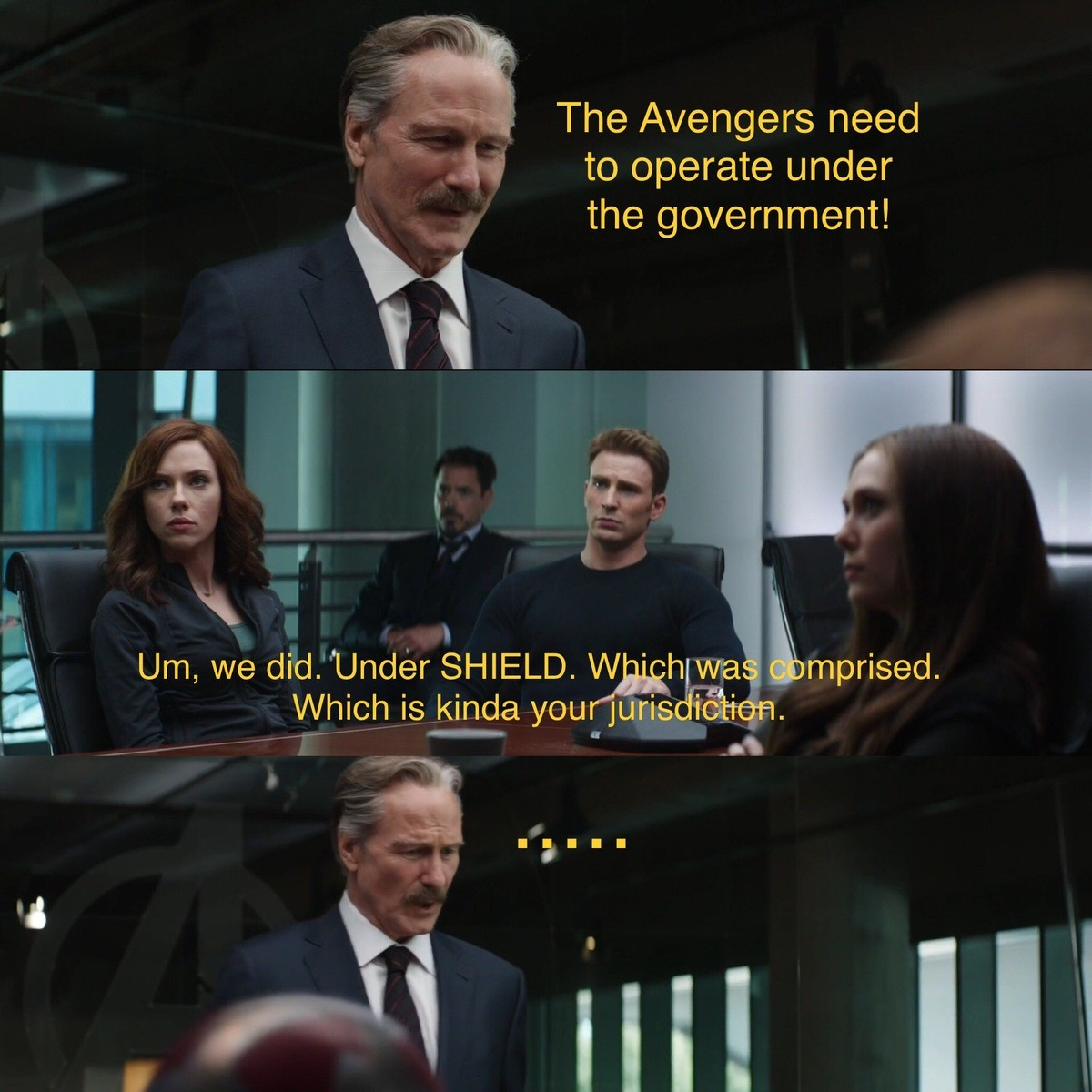 Civil war. .. don't get me wrong, i like agent coulson, because he's a sweet, kind, genuine soul and you never doubt that for a second since you meet him in iron man. but i d