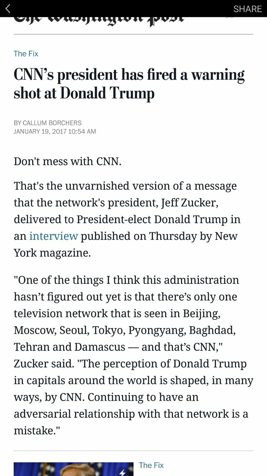 CNN threatens God Emperor. >when you think you can blackmail the President of The United States http://archive.is/H1iR1 Source. The Fix C? ? ' s president ha