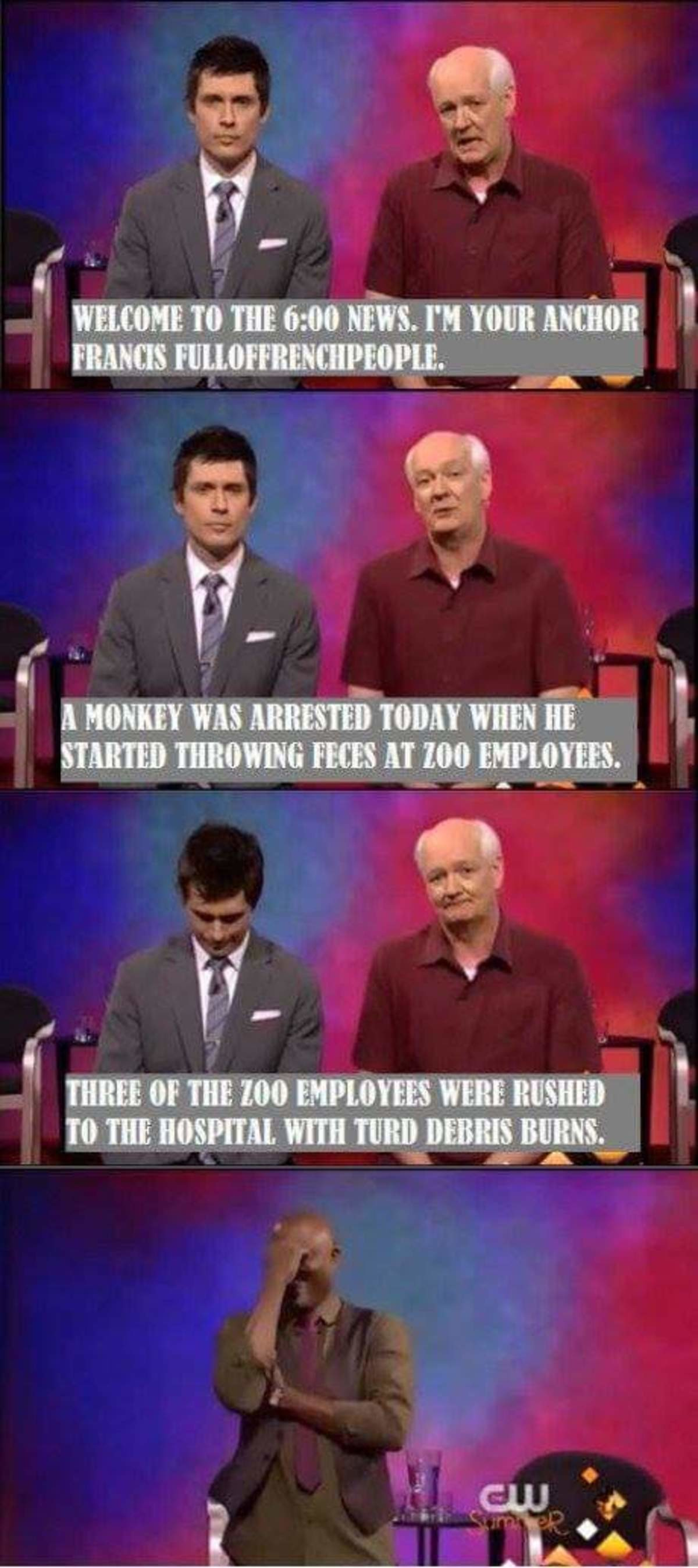 Colin Mochrie. .. Colin is probably the dad-iest of the dads I have ever seen and he just runs with it successfully every time