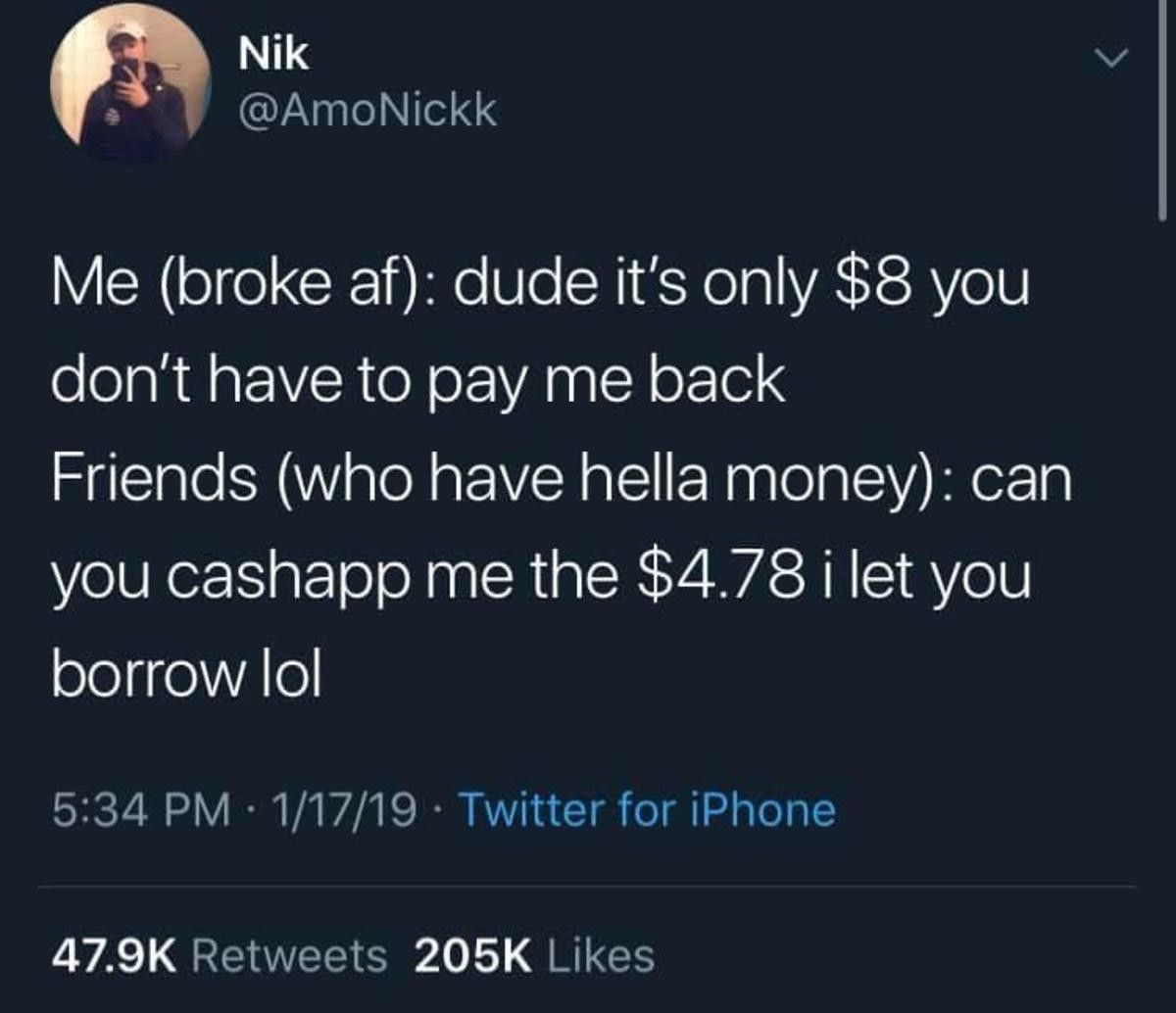 College struggles. .. beginning to see why they have hella money look after the pennies and the pounds look after themselves