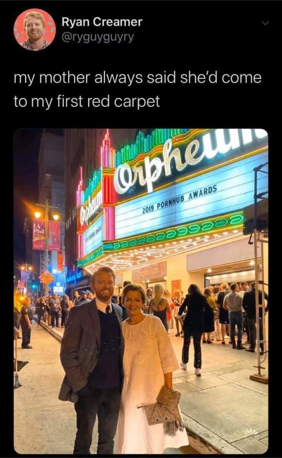 congrats. .. Where's the carpet?