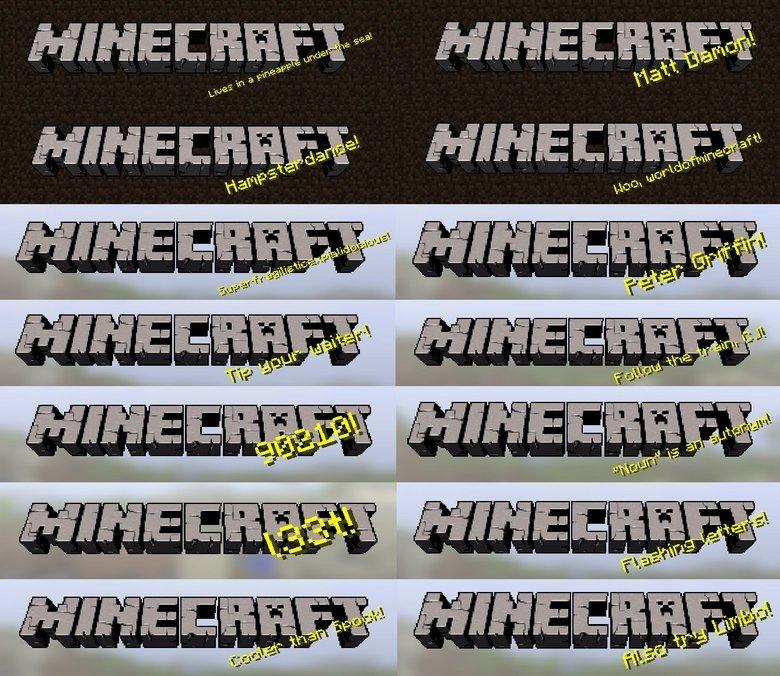 Cool Minecraft Logos. .