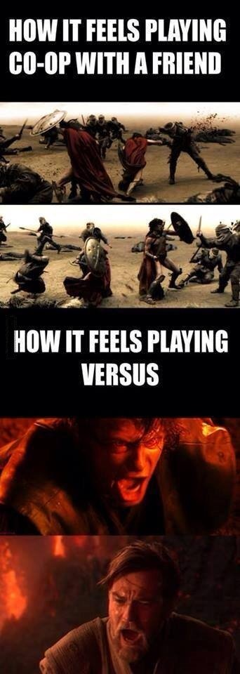 Co-op. . MW IT THIS Mutli' WITH ll MIN IT THIS VERSUS. me playing against my younger siblings