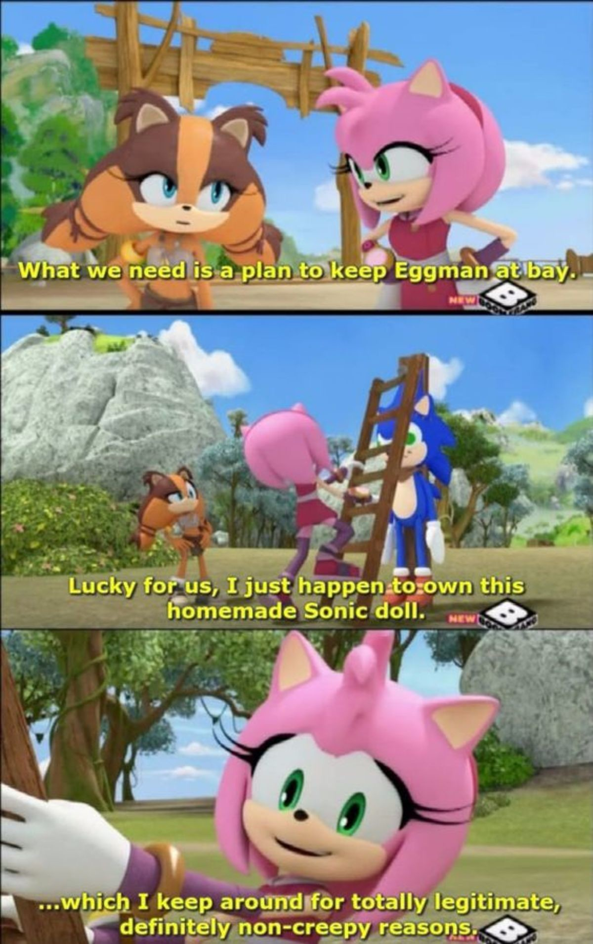 Creepy Amy. .. This whole show was wild
