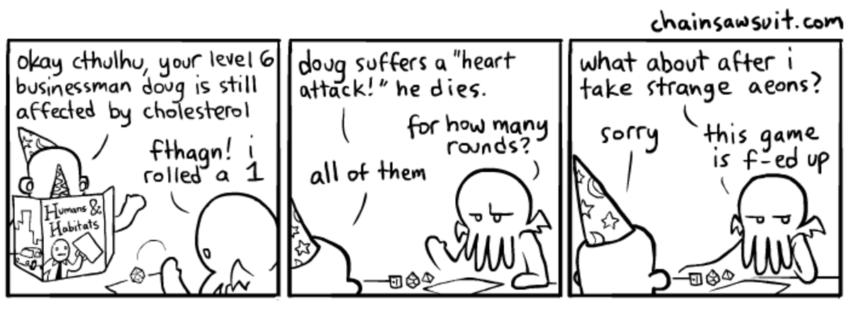 Cthulhu plays D&D. join list: DnDStuff (1112 subs)Mention History.. How it feels to play life simulator games.