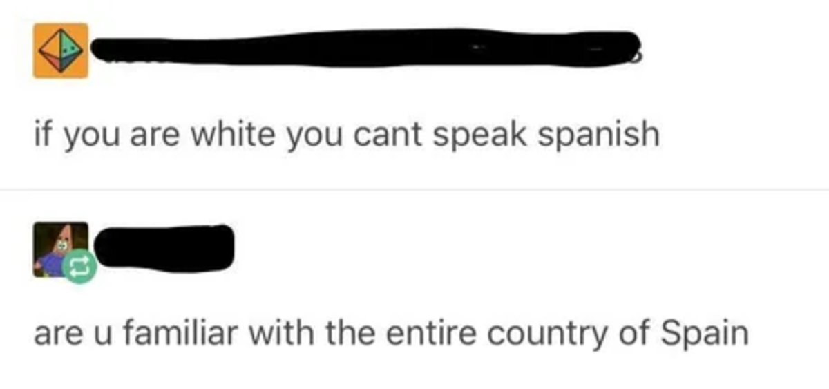 Cultural Appropriation. .. >Spain >White