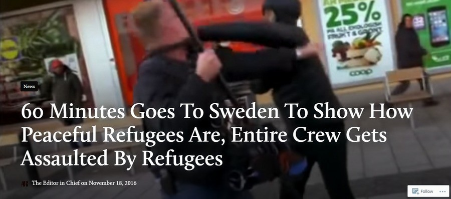 Curb Your Enthusiasm theme plays. . 60 1/ Goes 'To Sweden To Show How Peaceful Refugees Are, Entire Crew Gets Assaulted By Refugees The Editor in Chief an Novem