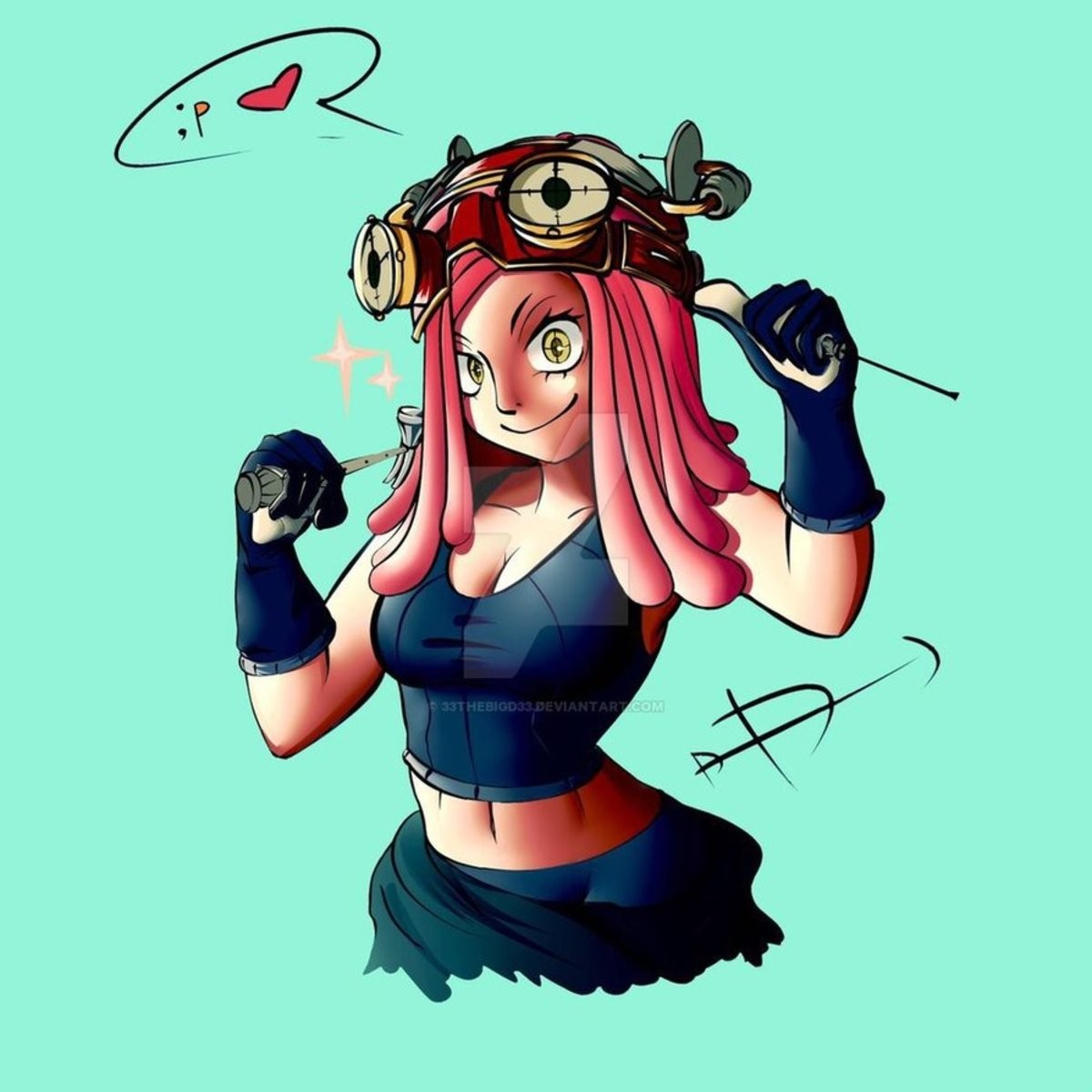 Daily Mei Hatsume Day 208. Source: https://www.deviantart.com/33thebigd33/art/Hatsume-Mei-Fanart-795443808 join list: MeiHatsumeisbestgirl (166 subs)Mention His