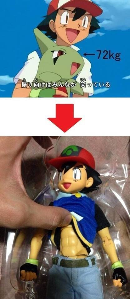 Daily reminder that ash lifts. he trains alright.. Ash liftem