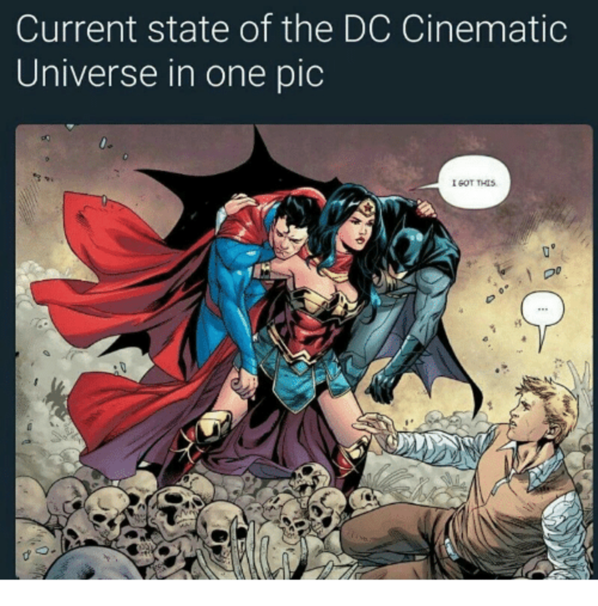 DC movies so far. .. At least DC has finally learned their lesson. Don't hire Snyder to make a movie.