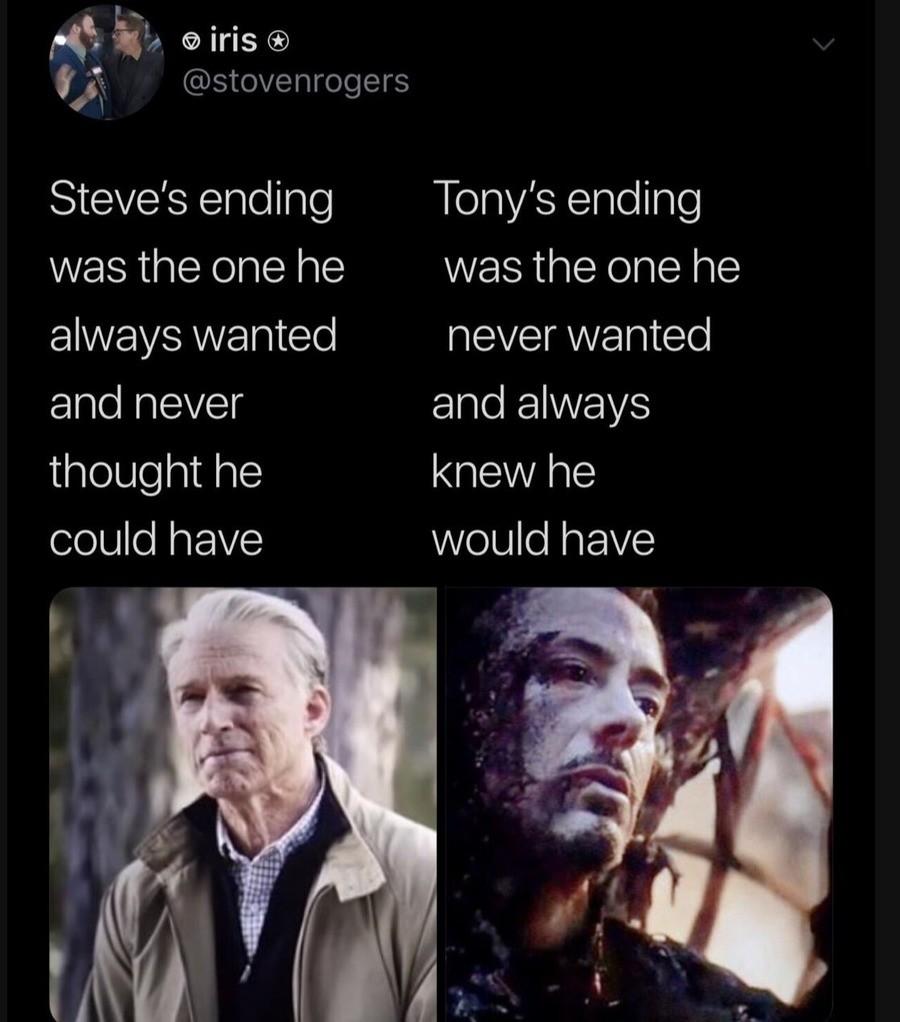 Deep. .. don't steve dead tony