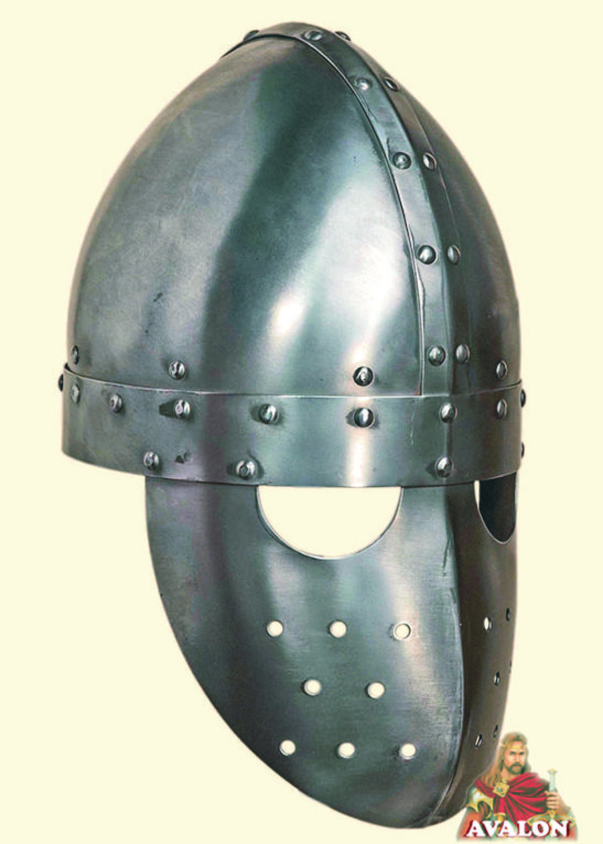 Development of Italian Hlems- 1200-1600. early crusader spangenhelm conical skull w/ face plate. Popularized by the normans on their way through Italy a later d