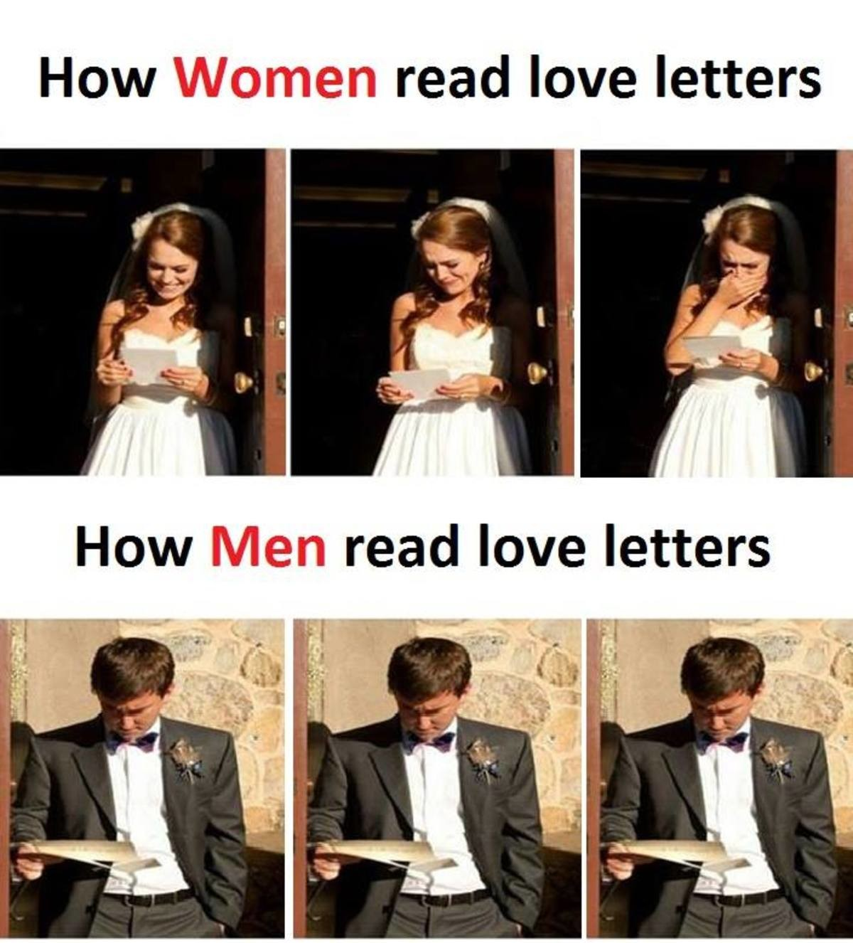 Different between WOMAN and MEN :))). . How Women birl/ rlly' l. r love letters. How I read love letters. Not really that jaded just could not resist.