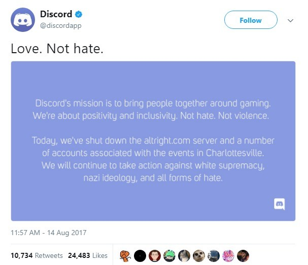 Discord: Good News and Bad News. . tn Discard 'ii) app Lave. New hate.. Well, give them server names and see if they will do it