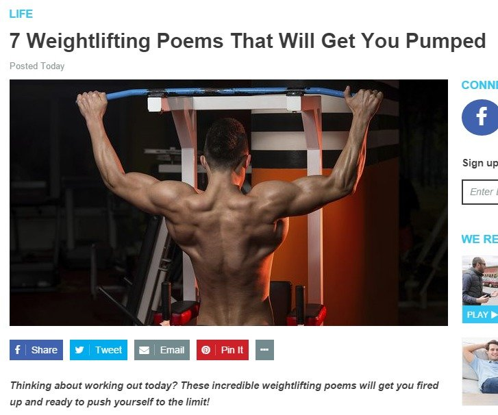 DO you even lift, sir?. Admin should write a poem. LIFE 7 Weightlifting Poems That Will Get You Pumped It I Thinking meant wetting nut teddy? These incredible w