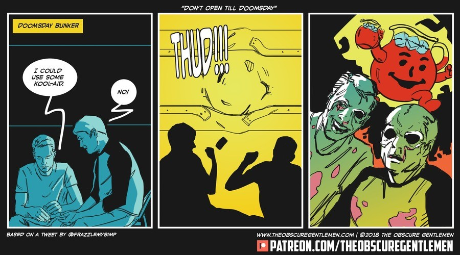 Don't Open Till' Doomsday. For more of our comics: Comic: http://bit.ly/1MJ1gMF Patreon: http://bit.ly/1ROQWaN.
