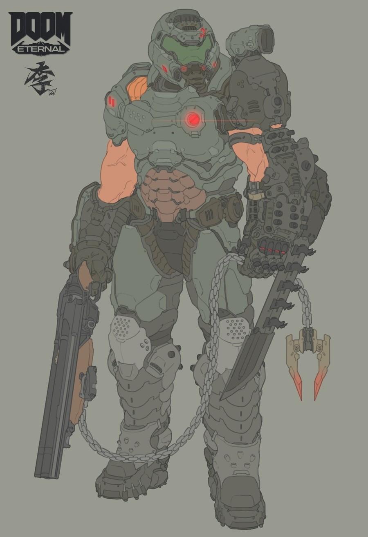 Doom. Gotta say, I don't like the sleeveless look. www.pixiv.net/i/70323142.. Technically sleeveless is more classic, right?