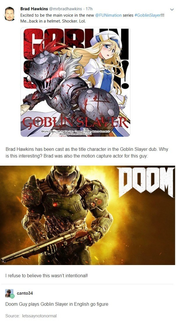 Doom music distantly playing. .. Motion capture guy... for Doom... but ... In the game, doomguy is just a pair of floating hands with weapons?