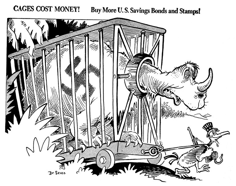 Dr. Seuss Political Cartoons I. It is not commonly known that Dr. Seuss was a US political cartoonist. He is rather remembered for creating children's books and