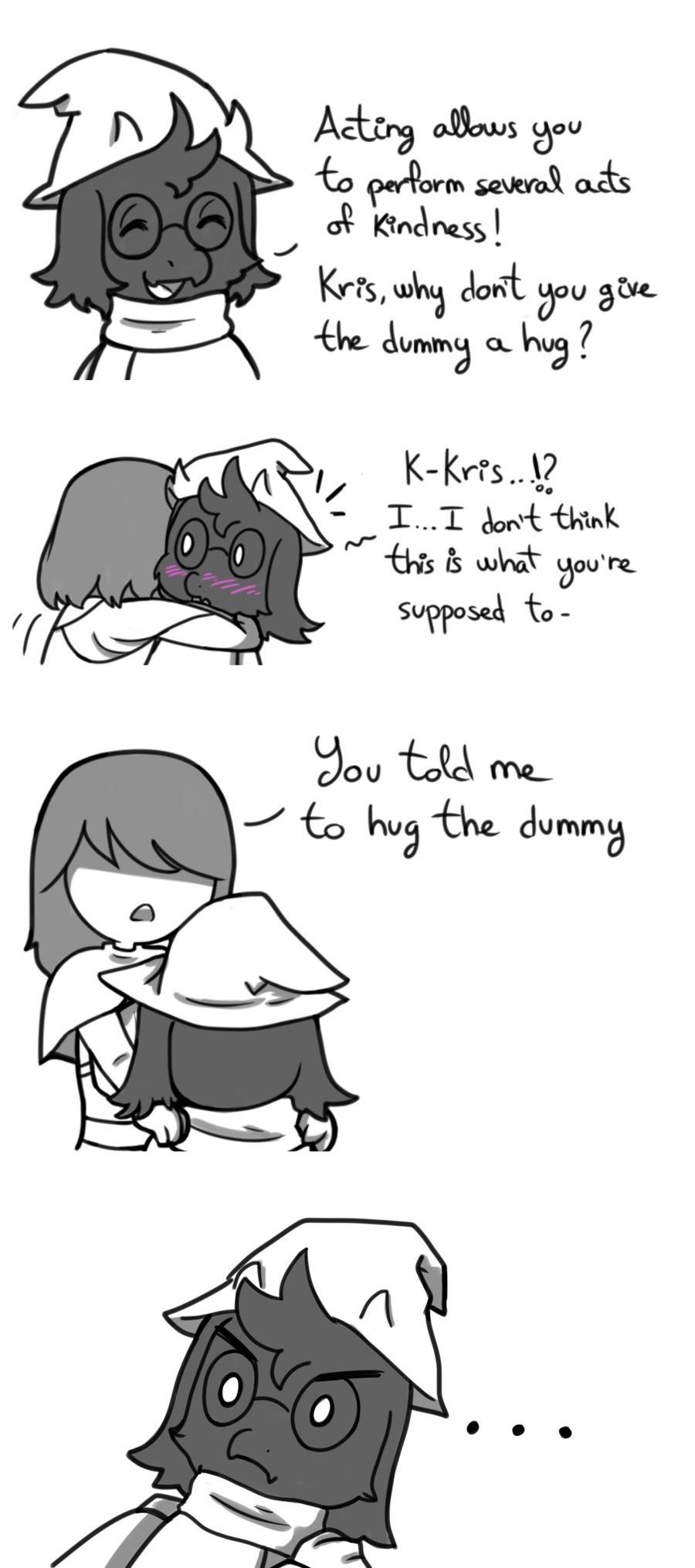 dummy. .. Let me hug your neck, Kris!