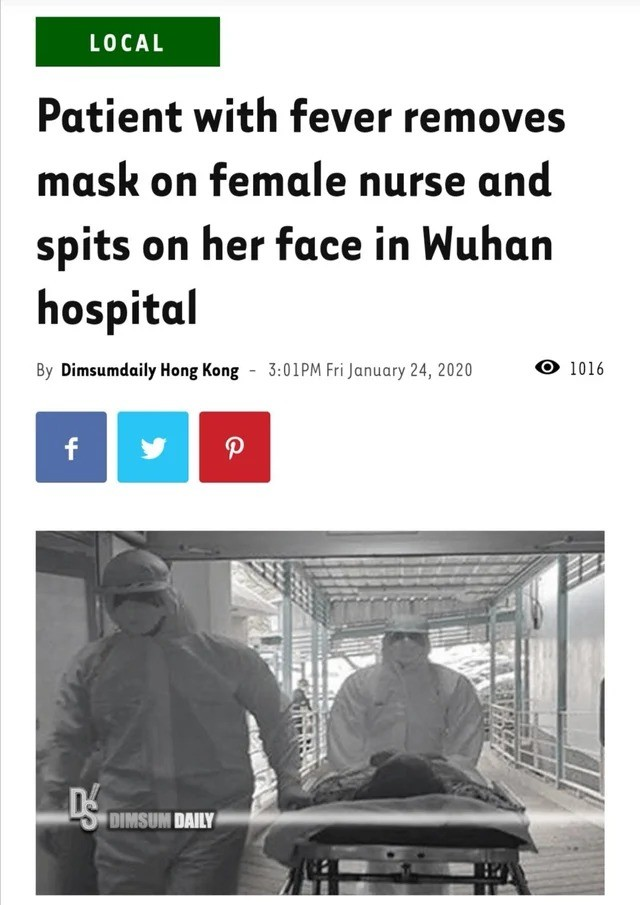 """early left Duck. """"I don't want to live anymore and you guys should not live too!"""" """"Phftooo!"""".. Jesus christ, I thought OP was just riffing with that quote. Poor women is now locked down in quarantine, no idea what's happened to the psycho patient. Forgive"""