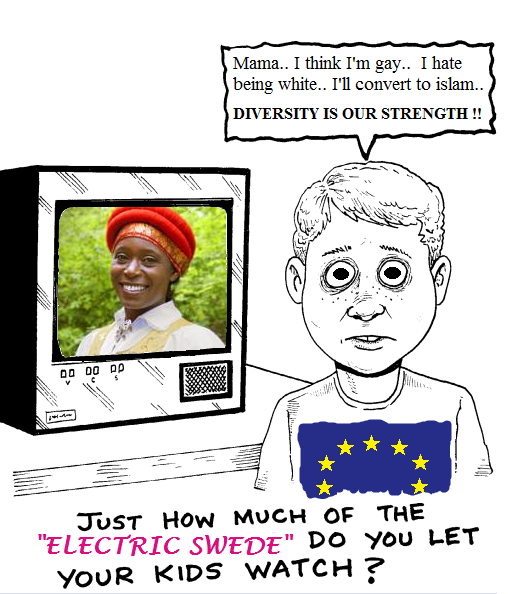 """Electric Swede. . Mama.. 1 think I' m gay.. I hate being white.. I' ll convert to islam.. IS OUR STRENGTH I! JUST How MUCH OF THE ELECTRIC SWEEDE"""" DO YOU thpt"""". You know what i find funny, how people say they are gay then convert religions when most don't allow gays."""