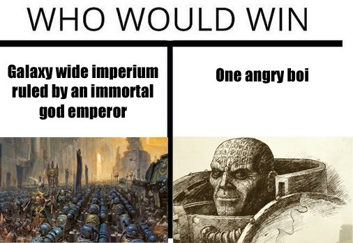 Ere🅱us. join list: WH40Kcontent (320 subs)Mention History THIS BALD BASTARD IS THE IMPERIUMS HOTTEST PRIMARCHS, ARE YOU GONNA LET HIM? Also a thank you to every