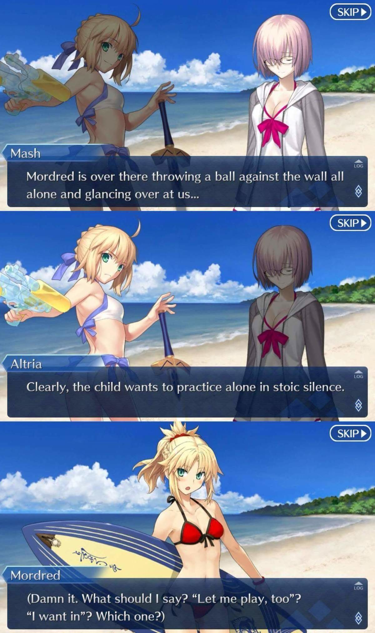 """Even On Vacation Artoria Is a Bulli. join list: Lewds4DHeart (1587 subs)Mention History join list:. Mordred could seriously be a poster child for child abuse. Her mother brings her to Camelot, and drops her there with so much as a """"There's your father the"""