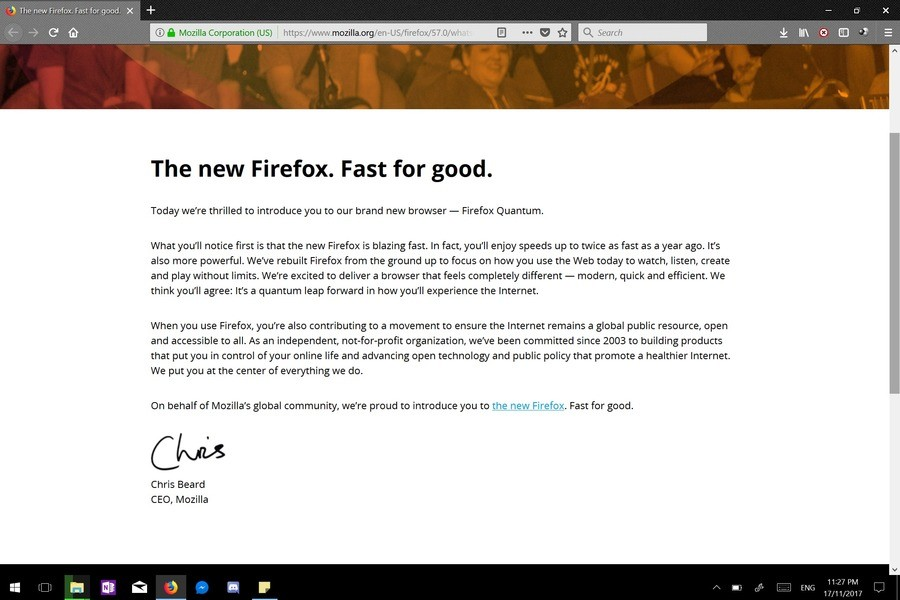 Firefox has had a major update. So I guess it should be much faster now. Certainly seems that way when I have been using it. If you like to download videos, the