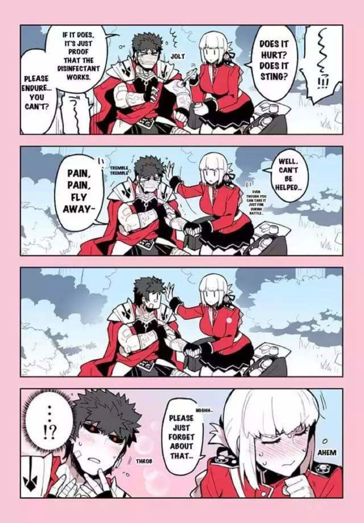 First aid.. .. Flustered Nightingale is the best