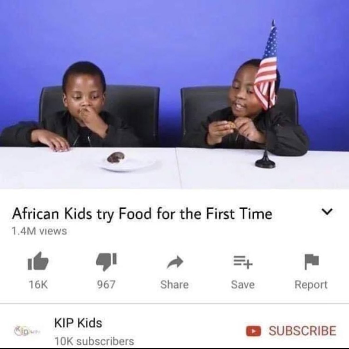 food. .. KIP Kids? more like RIP Kids