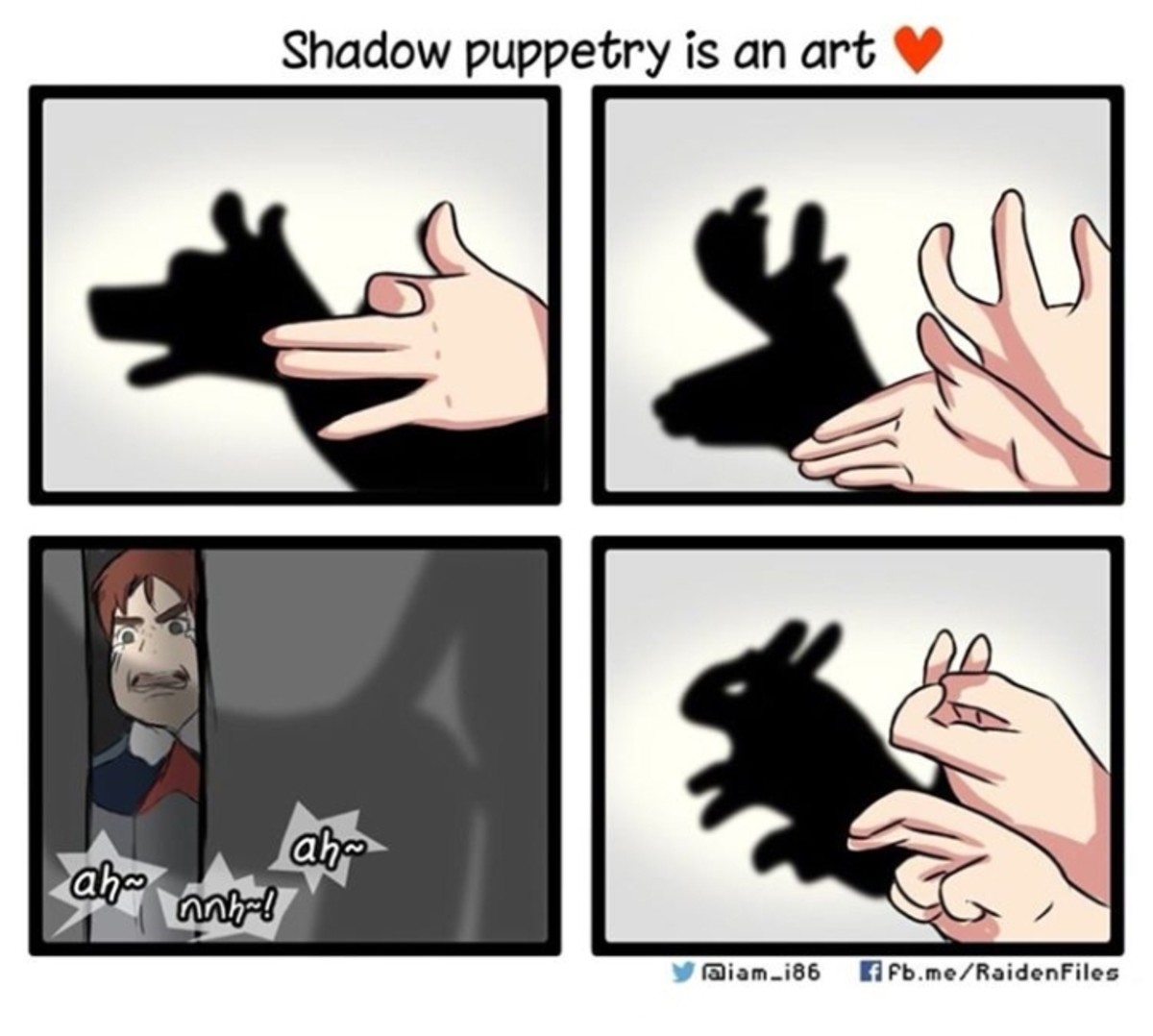 frail psychotic omniscient Tapir. . Shadow puppetry is an art Alla?. fingers shouldn't bend like this