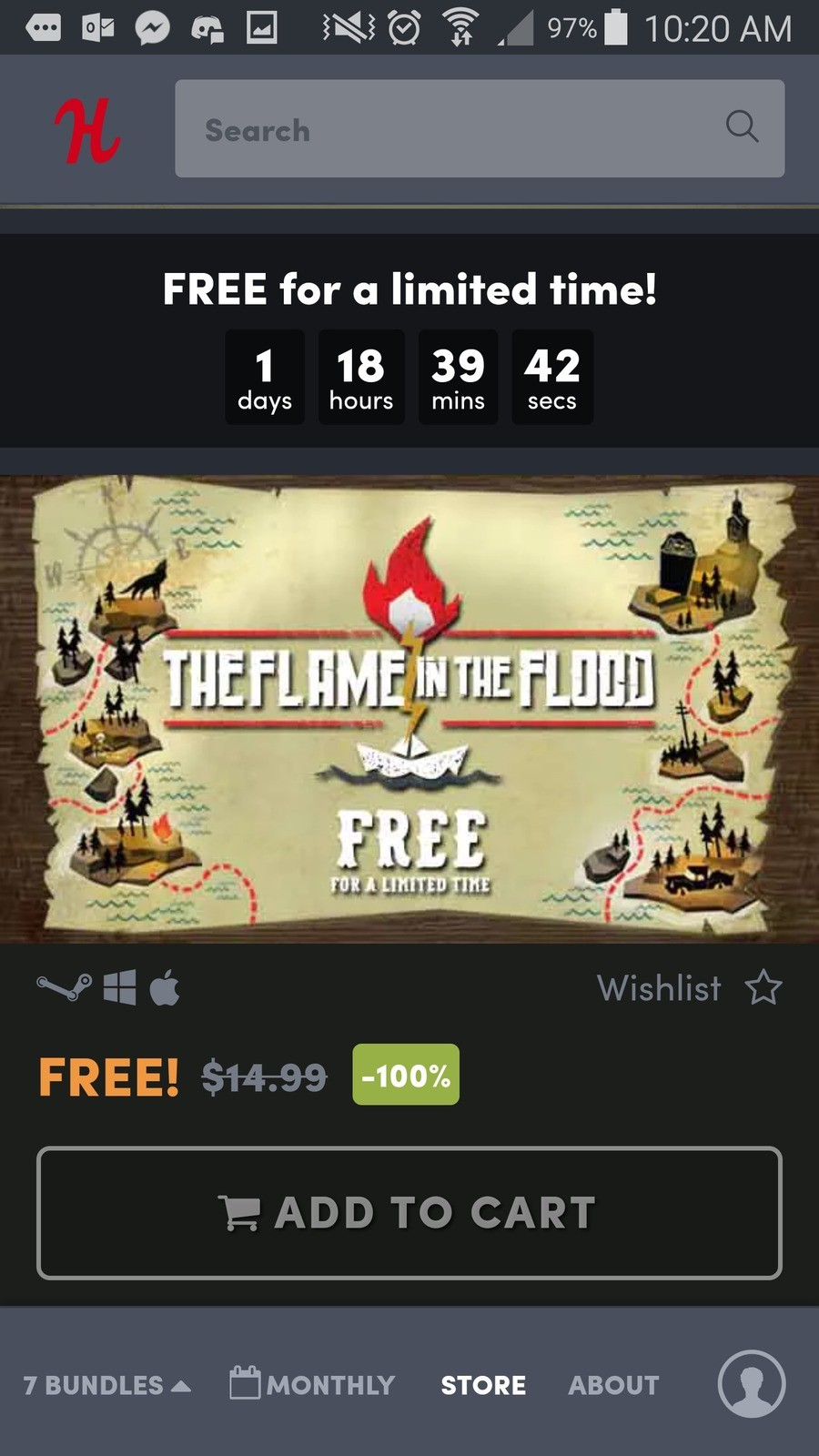 Free game - the flame in the flood. .