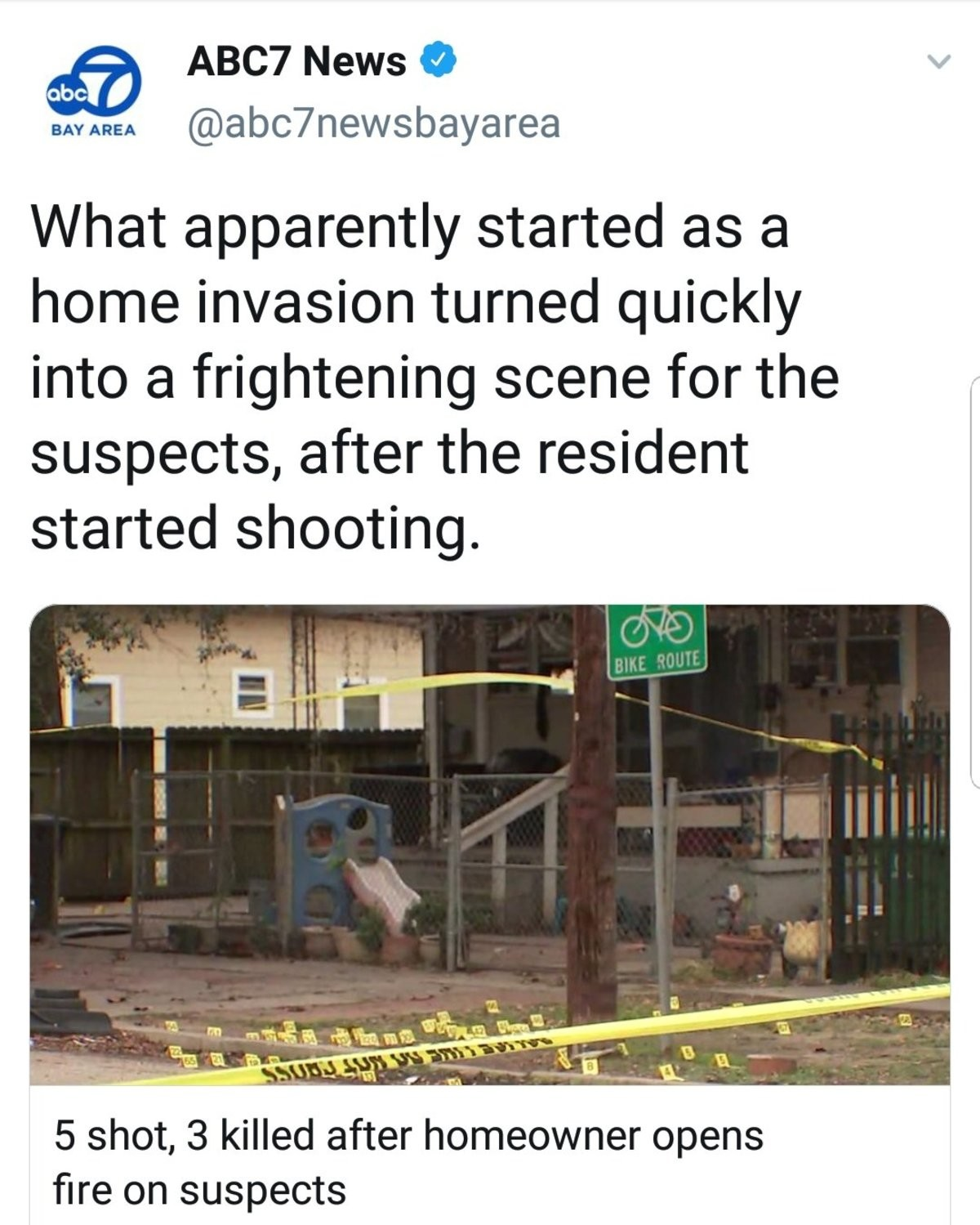 Frightening scene. It's Frightening for the residents!! I don't give any how scared the Intruders are... Poor criminals, always being shot at for commiting crimes and threatening innocent homeowners