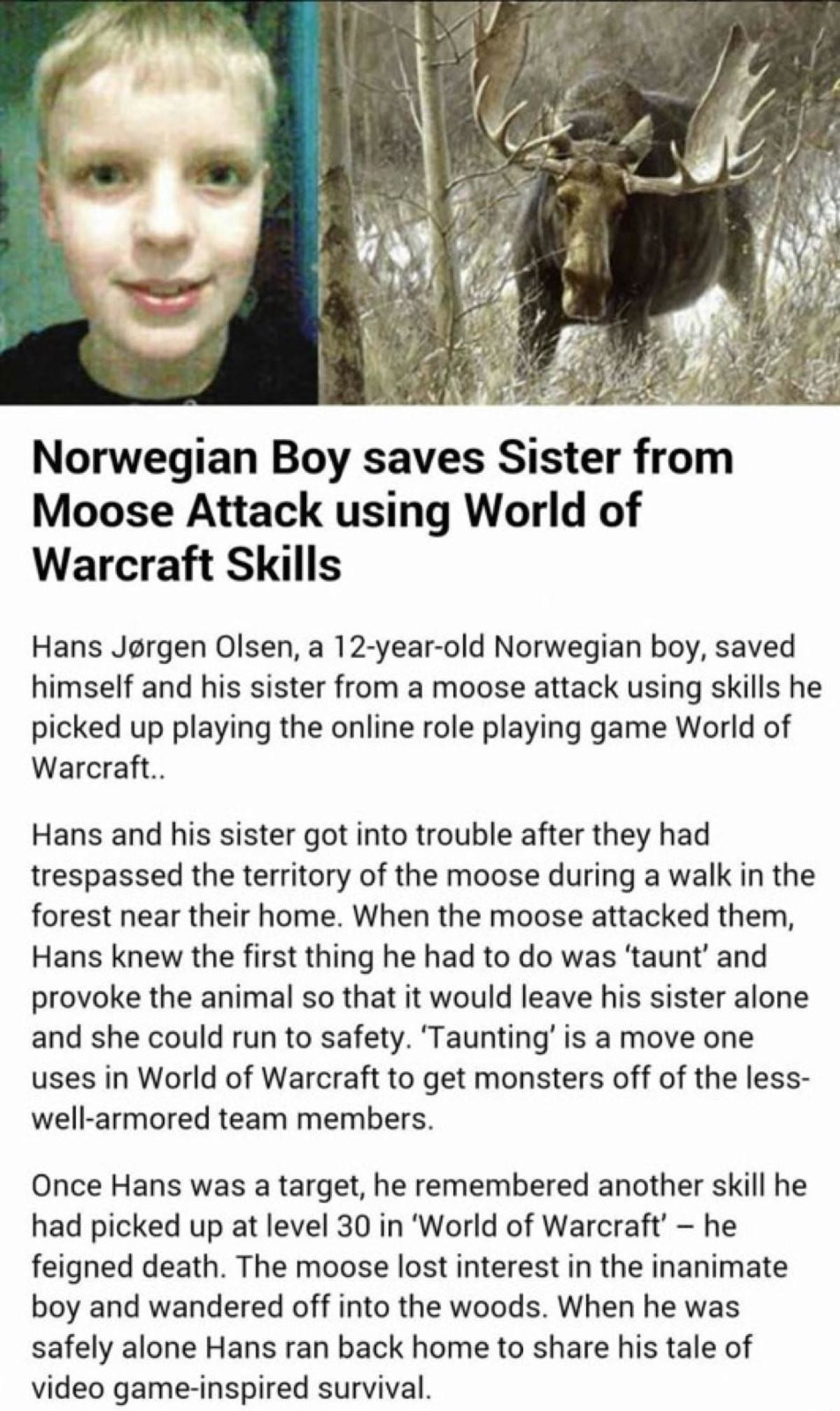 """""""Games hurt childrens minds"""". join list: VideoGameHumor (1707 subs)Mention Clicks: 598153Msgs Sent: 5837304Mention History. Norwegian Boy saves Sister from Moos"""