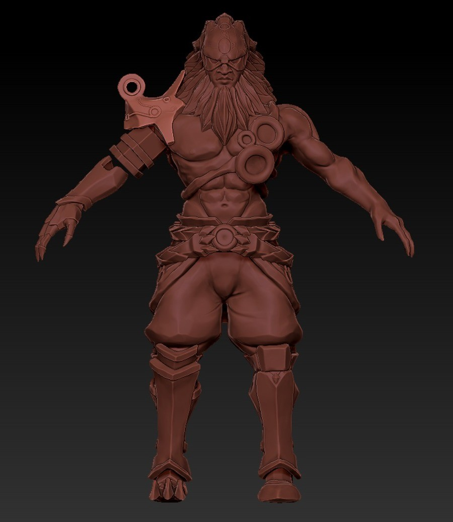 Ganondorf in Breath of the Wild. Hey everyone, here is a 3D model I did for my final, excuse the direct zBrush screenshots. This is based off of concept art by
