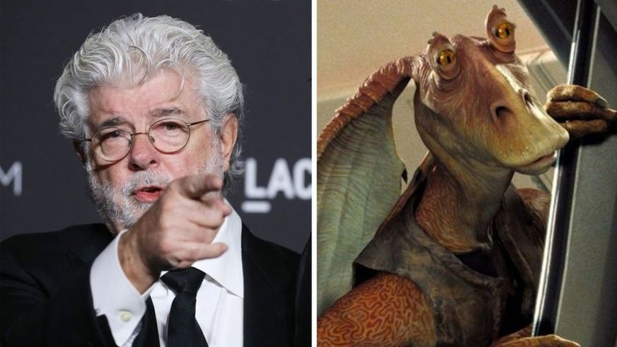 George Lucas names Jar Jar Binks as his favourite character. https://www.bbc.co.uk/news/entertainment-arts-47960054.. Jar Jar is the key to all of this