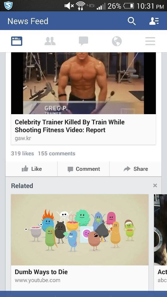 Good work on the sensitivity Facebook. Found this last night while scrolling through facebook, thought I'd share with you guys. News Feed 'M. 15 Celebrity Train