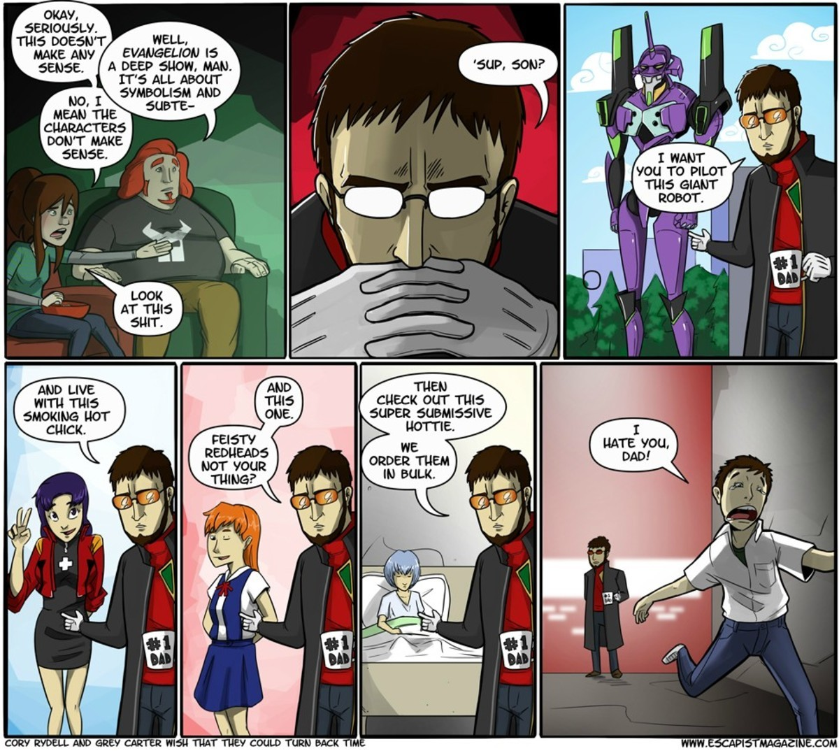 Greatest Dad?. .. Get in the angel restrained in power armor you can control Shinji