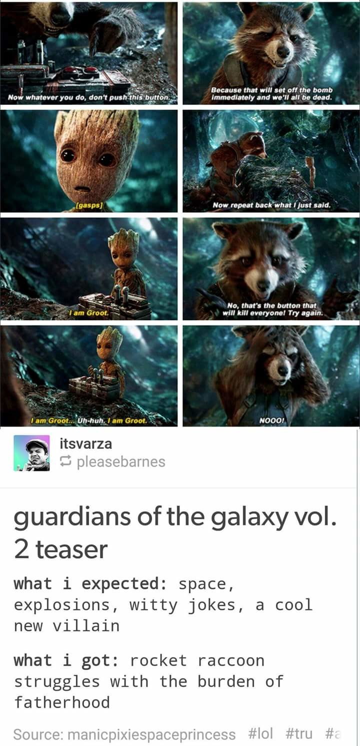 groot. .. Can't wait