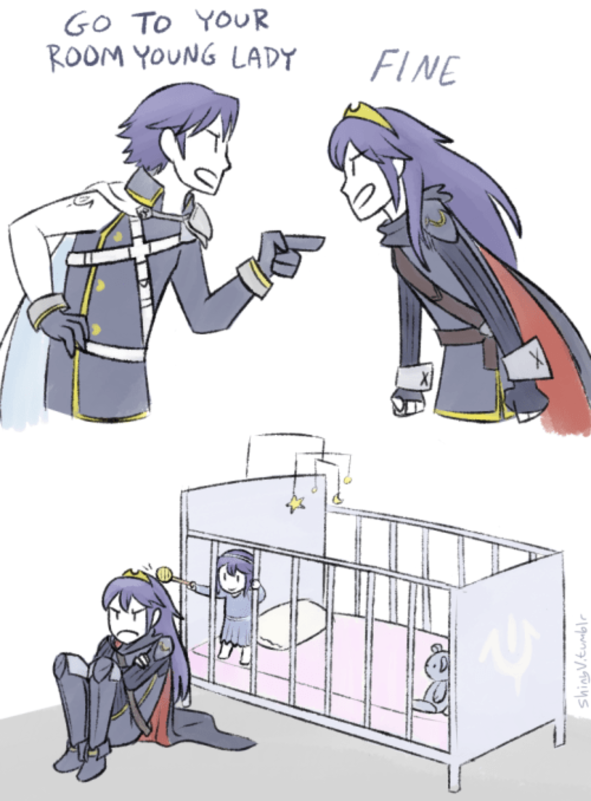Grounded Lucina. .. >fire emblem awaking is 6 years old Almost 7 if you're japanese.
