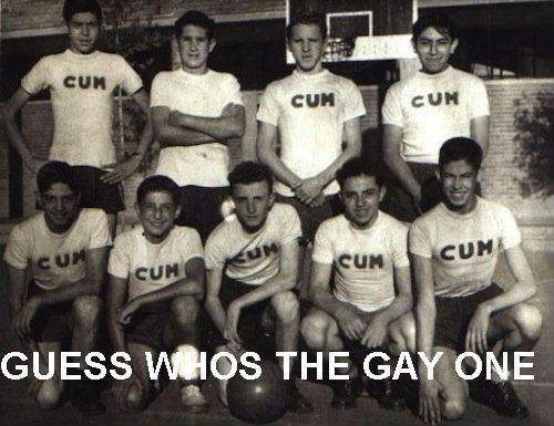 GUESS WHOS THE GAY ONE. . GUESS was THE GA 'ONE