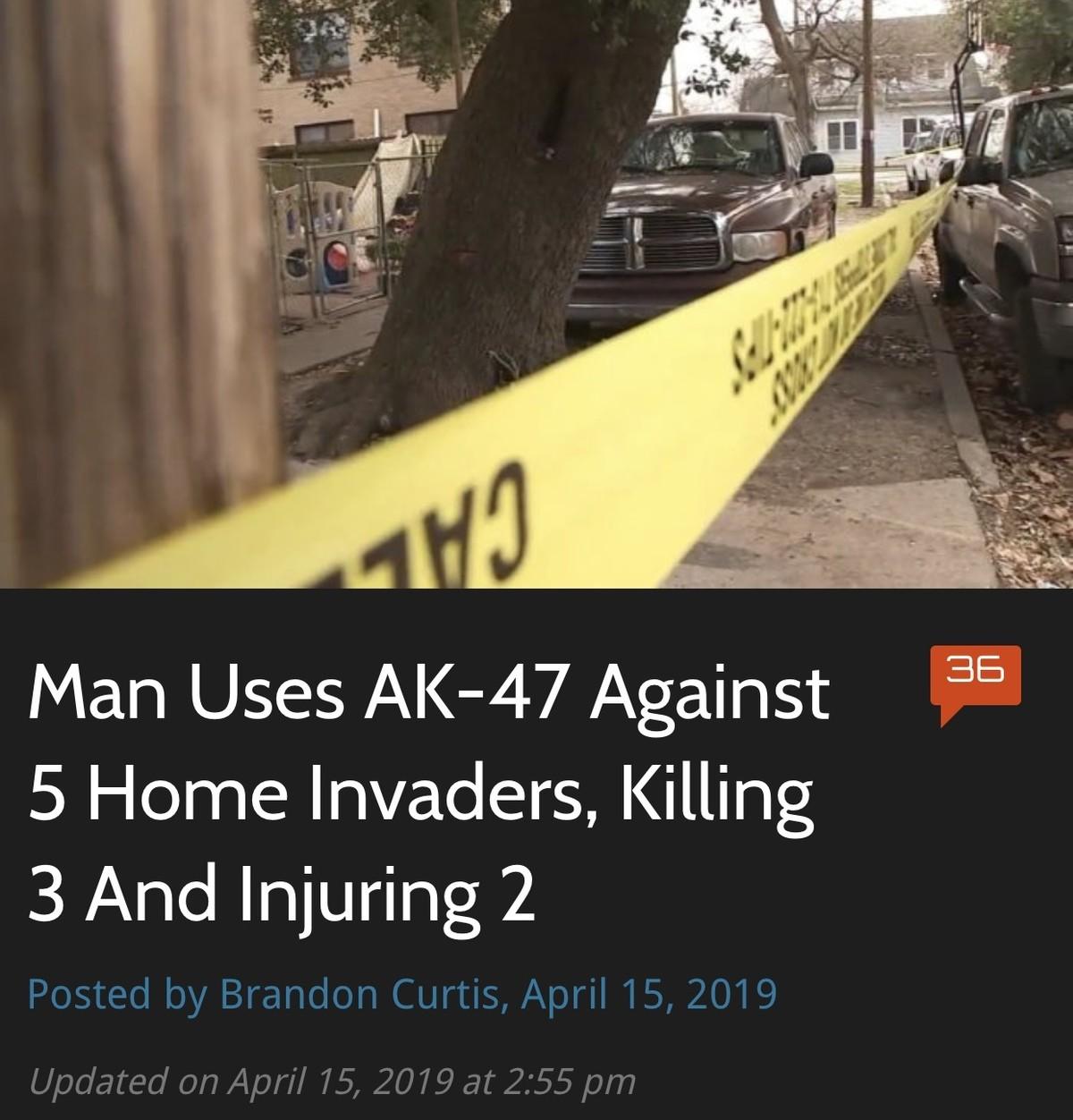 Guns save lives. .. 3/5 aint bad, shame he wasnt a better shot