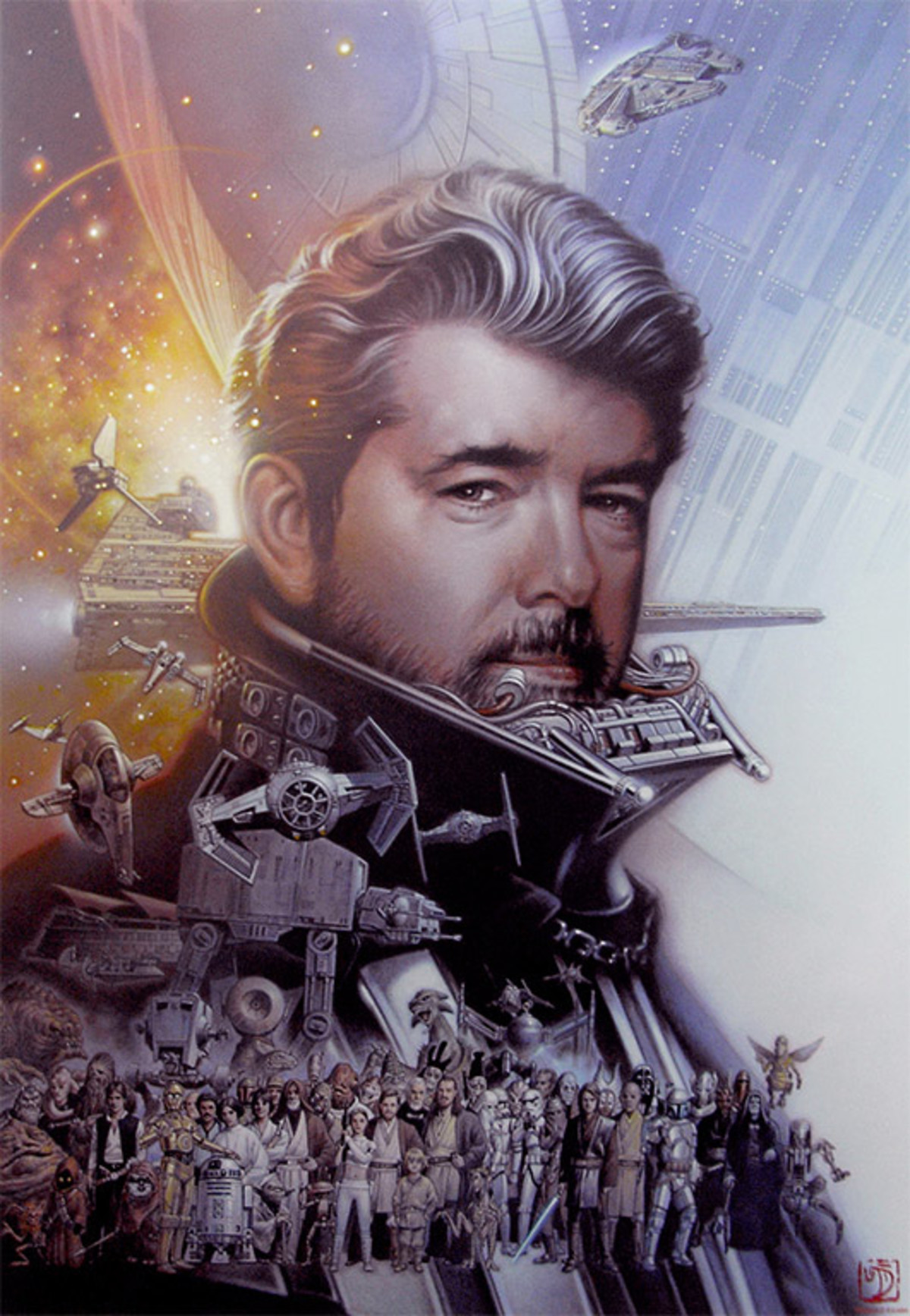 Happy Birthday George Lucas. George Lucas is turning 74 today, lets hope he has a great birthday.. Well, Happy Birthday to Georgy Boy. His work had a HUGE impact on my upbringing.