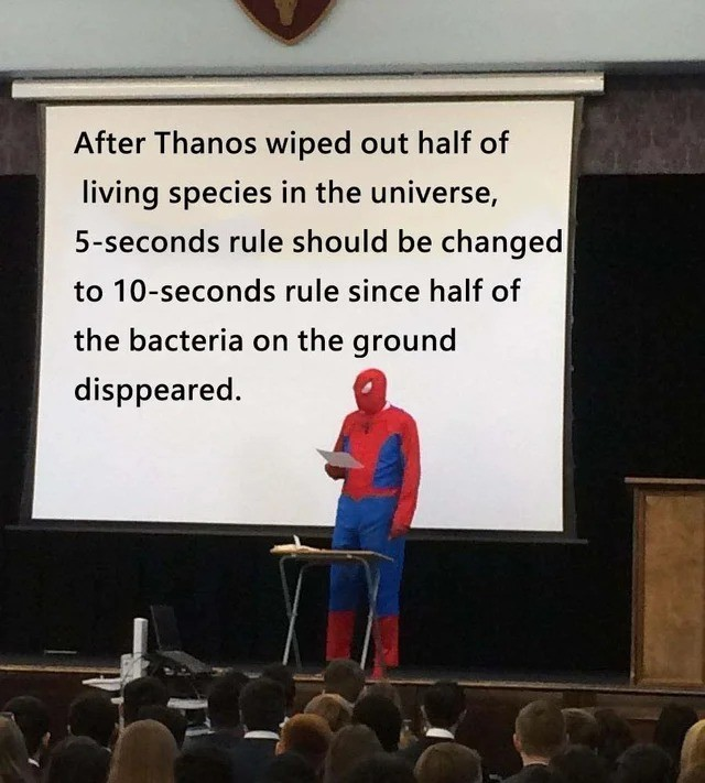He has a point. join list: MarvelStuff (211 subs)Mention History.. I don't think that's how it works, but whatever. I trust you, Spider-Man.