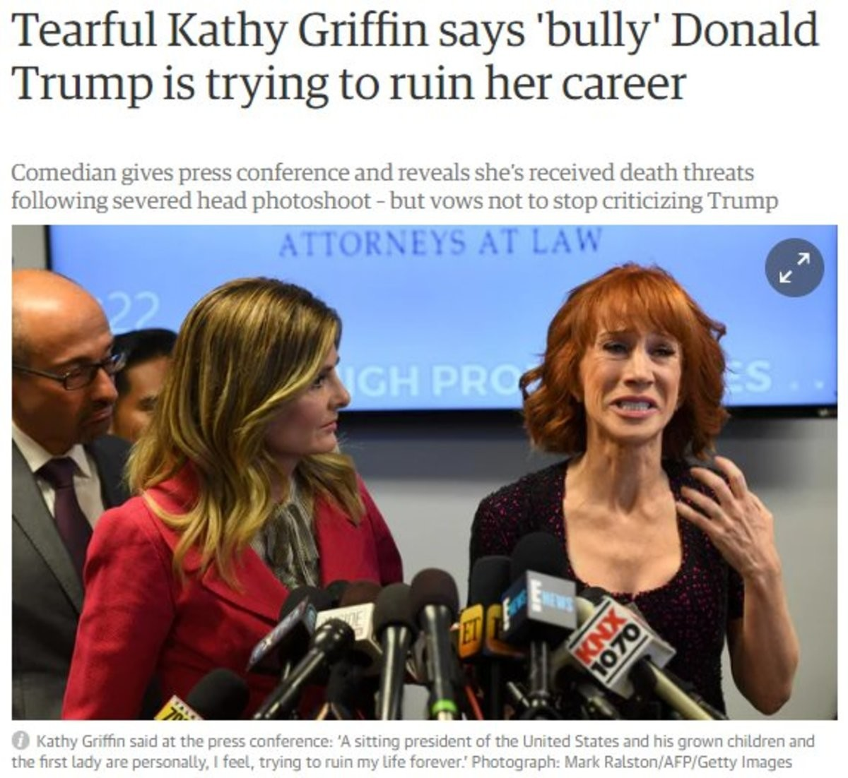headline sounds little. .. >Bullying Donald is OK >Gets bullied back. Not OK