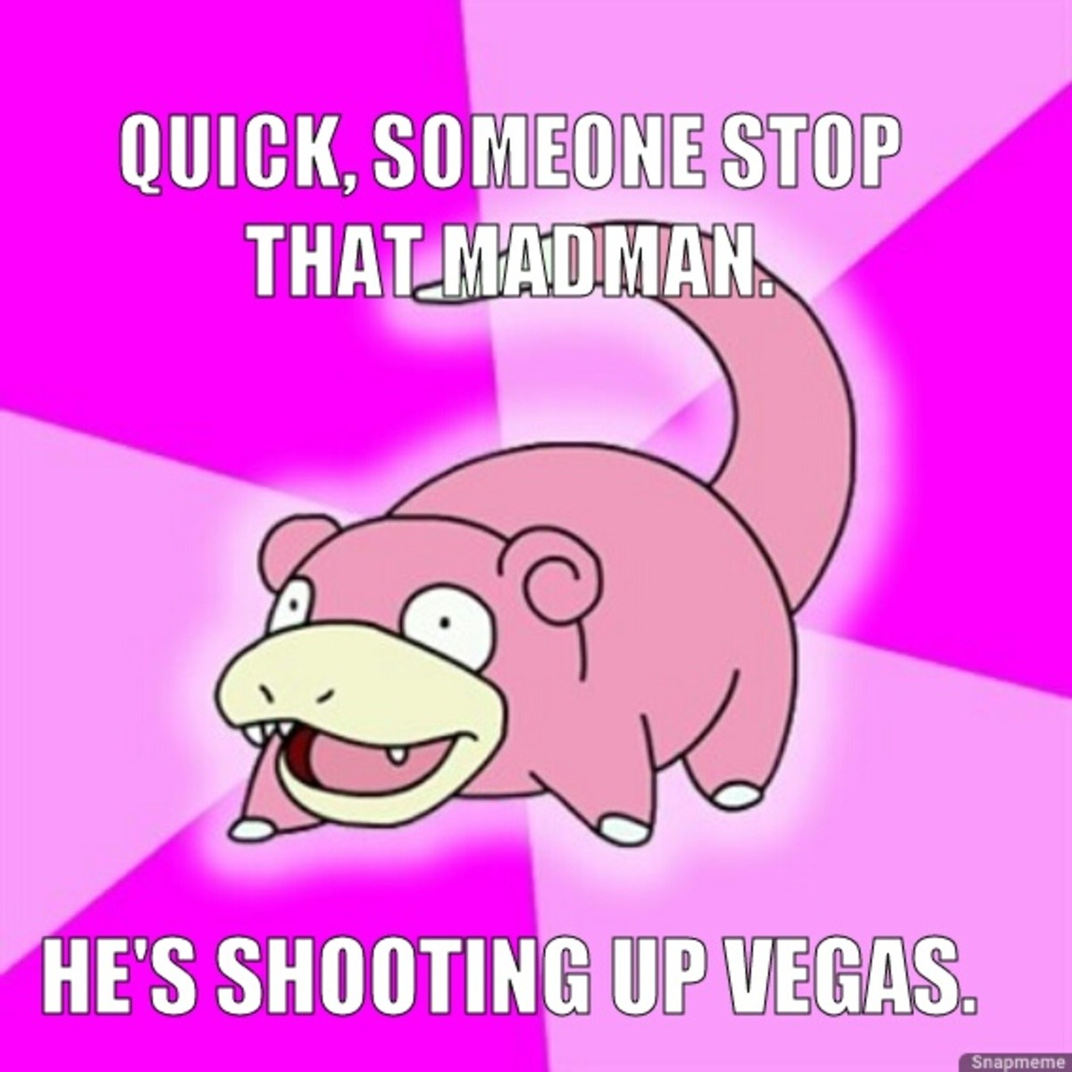 He's shootin' em up. .. As someone who lives in vegas how dare you not get more thumbs. i aint mad